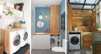 Non sai dove mettere la lavatrice? Trova il posto più adatto con queste idee belle e funzionali