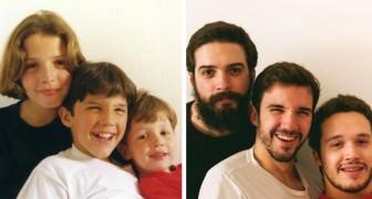 """""""Wie die Zeit vergeht"""": 15 Menschen, die der Nostalgie nachgekommen sind und alte Fotos nachgestellt haben"""