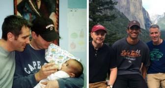 Een homopaar vond een in de steek gelaten baby in de metro: nu is het hun zoon