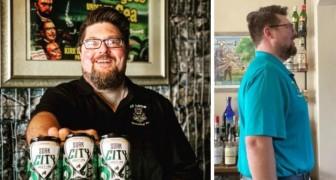 Tijdens de vastentijd geeft hij zijn eten op en volgt een dieet dat alleen op bier is gebaseerd: hij verliest 18 kg in 46 dagen