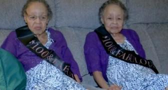 Due sorelle gemelle hanno festeggiato entrambe 100 anni: un caso più unico che raro