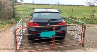Tourist lässt sein Auto vor einem Grundstückstor stehen: Der Bauer rächt sich mit einem Zaun