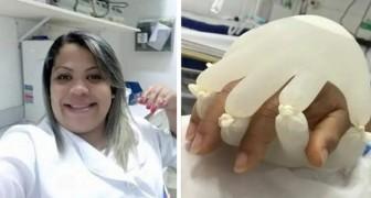 De hand van God, het idee van een verpleegster om troost en warmte te geven aan patiënten op de intensive care