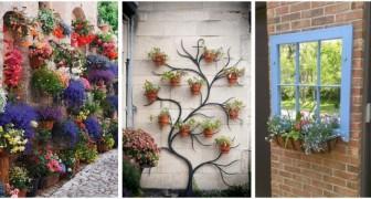 Vasi fioriti: scopri come usarli per decorare le pareti di casa o le recinzioni del giardino