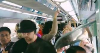 Talento nella metro di Dubai