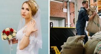 Ze neemt ontslag omdat ze haar bruiloft moet organiseren, maar vraagt haar vriend om een tweede baan te zoeken