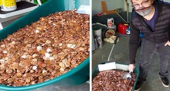 Si dimette dal lavoro e il suo capo si vendica pagandogli la liquidazione in monete da un centesimo