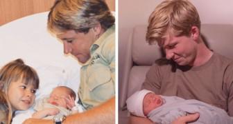 Il figlio di Steve Irwin fa una foto con la nipotina ed è identico al suo papà scomparso