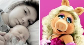 Noem haar Miss Piggy: vader spoort kinderen aan om zich op deze manier tot hun moeder te wenden om haar te helpen af te vallen na de bevalling