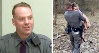Poliziotto segue il suo istinto e trova la bambina smarrita su una montagna poco prima che diventasse buio
