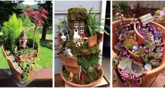 Pots cassés ? Transformez-les en fantastiques jardins de fées et mondes enchantés en miniature