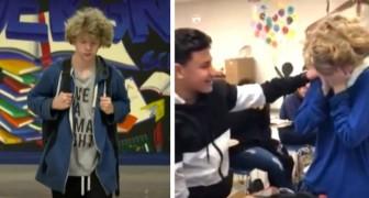 Veniva bullizzato ogni giorno, ma i suoi nuovi compagni di classe gli fanno una sorpresa: Ti meriti anche di più