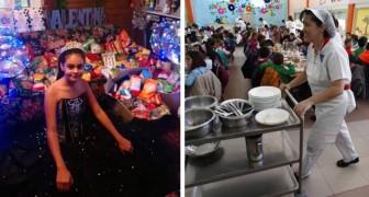 Festeggia i 15 anni con una grande festa ma non chiede regali, bensì cibo da donare alle mense della sua città