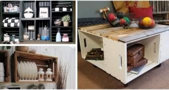 Caisses en bois : quelques idées faciles et créatives pour réaliser des tables, des bibliothèques et tant d'autres meubles