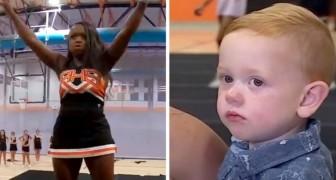 En cheerleader räddar en pojke som höll på att kvävas på en karamell och bli skolans hjälte