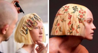 Un coiffeur met au point une technique d'impression sur les cheveux : il allie l'art et la technologie dans des coiffures élégantes
