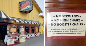 No strollers or high chairs: a restaurant forbids entry to families with noisy and unruly children