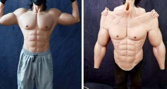 Un'azienda crea la muscolatura iper realistica in silicone: avere un fisico scultoreo senza fare sacrifici è possibile