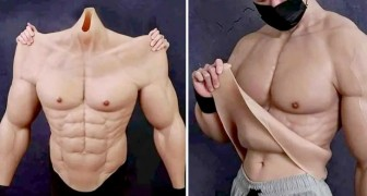 They created a silicone suit for people who don't feel like building muscle in the gym