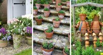 Vasi di terracotta in giardino: 10 idee deliziose e intramontabili per decorare all'esterno