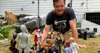 Quest'uomo ha costruito una città immaginaria in scala 1:6 per dimenticare un trauma che gli ha sconvolto la vita