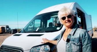 A los 70 años decide vivir la vida de jubilada a bordo de su furgón: una elección aventurosa