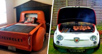 Recyclage utile et original : 15 personnes ont transformé leur voiture en pièces uniques