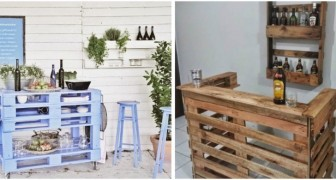 Angolo bar con i pallet? Crea il tuo mobile personalizzato per la casa o per il giardino