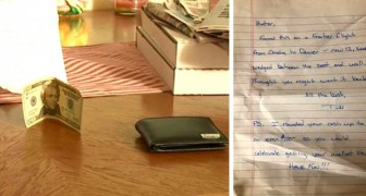 He finds a lost wallet and adds some money to it before returning it to its rightful owner