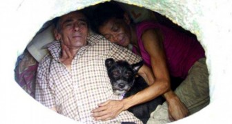 A very poor couple have been forced to live in a manhole for over 22 years: We have everything we need