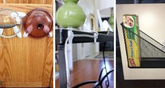 Crochets adhésifs : découvrez comment les utiliser avec ingéniosité et faites de la place sans percer les murs ou les meubles