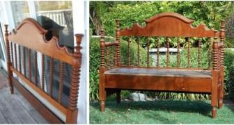 Da vecchio letto a fantastica panchina: lasciati ispirare da questi splendidi progetti di riciclo