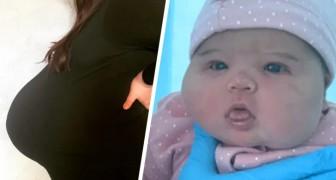 Partorisce una bimba di quasi 6 Kg, dopo aver avuto un pancione enorme: Pensavamo fossero 2 gemellini!
