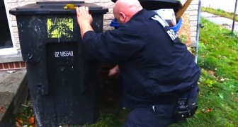 Sie hören Klagerufe hinter den Mülltonnen: Was sie finden, wird euch bewegen