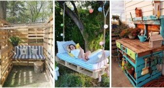 Trasforma i pallet in fantastici mobili e soluzioni d'arredo per il tuo giardino