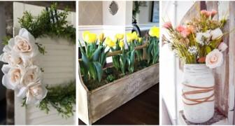 Décorations florales dans un style rustique : découvrez comment en réaliser avec le DIY pour embellir votre maison