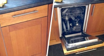 Een man ontdekt dat hij een vaatwasser heeft in het huis waar hij al twee jaar woont