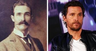 15 beroemdheden delen ongelooflijke overeenkomsten met mensen die in verre tijden leefden