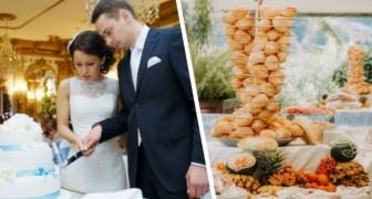 Sposini offrono agli invitati un buffet diverso in base al regalo ricevuto: chi spende di più, mangia meglio