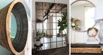Construisez un miroir DIY grâce à ces splendides idées de recyclage créatif