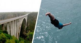 Hij springt van een brug om een kind te redden dat na een vreselijk auto-ongeluk in de rivier is gevallen