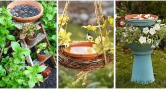 Crea fantastiche vaschette per uccellini riciclando oggetti di ogni tipo