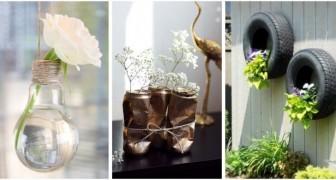 Des jardinières avec le recyclage créatif : découvrez ce que vous pouvez utiliser pour décorer avec les plantes