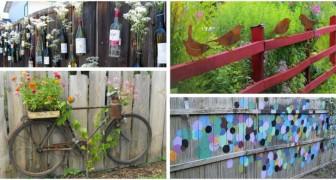 Vous avez une clôture vide et ennuyeuse ? Décorez-la avec des idées créatives et économiques