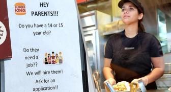 Restaurant veröffentlicht Stellenanzeige, die sich an Minderjährige richtet und löst bittere Debatte aus
