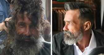 Un senzatetto riceve una pulizia completa dal barbiere: la famiglia lo riconosce dopo che le foto diventano virali