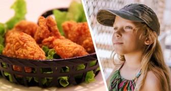 Een vrouw ontdekt dat haar ex-man haar veganistische dochter kipnuggets geeft