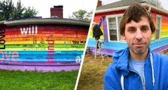 Er kauft ein Haus vor einer schwulenfeindlichen Kirche und streicht es in Regenbogenfarben