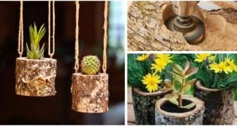 Trasforma semplici tronchi in fantastici vasi: le idee migliori per fioriere dal look naturale