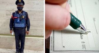 Polizist findet einen Scheck über 2 Millionen Dollar auf der Straße und gibt ihn dem Besitzer zurück